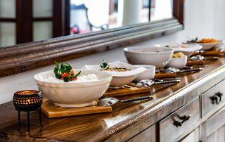 Dining set up Galle Fort
